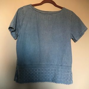 Tops - FREE Denim embroidered top